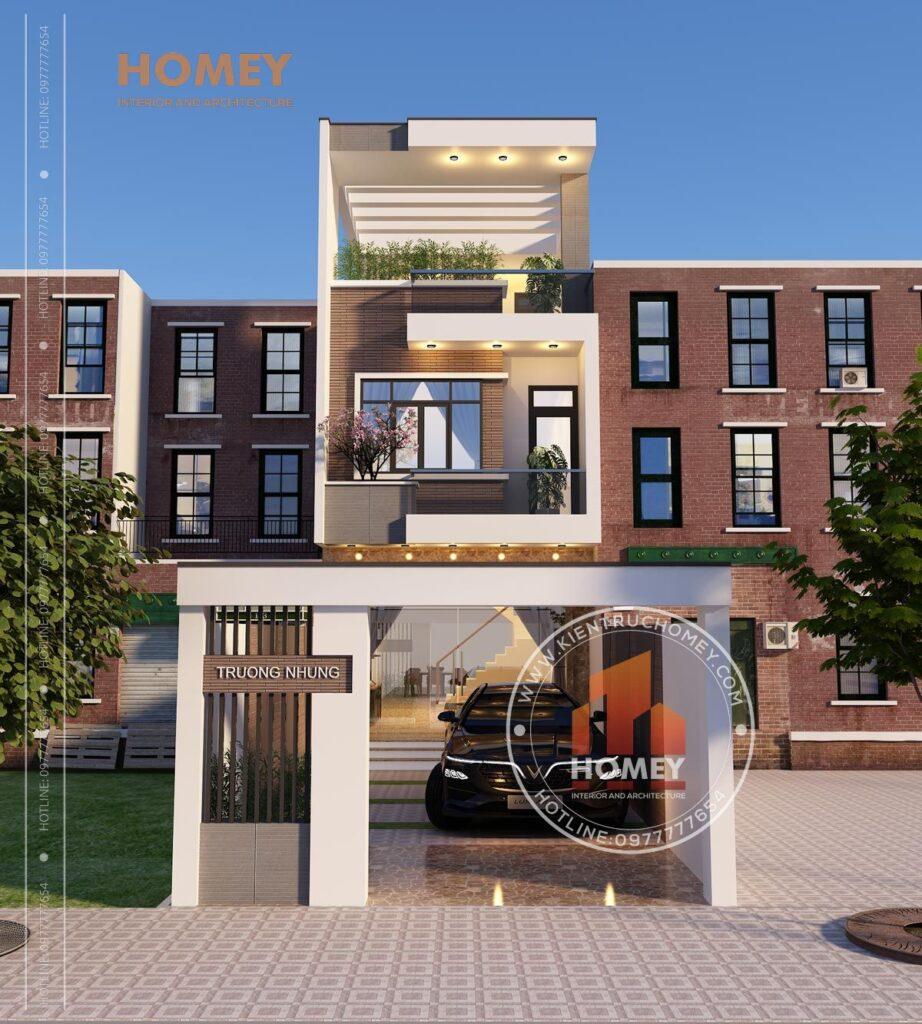 nhà phố 5x20m 3 tầng hiện đại