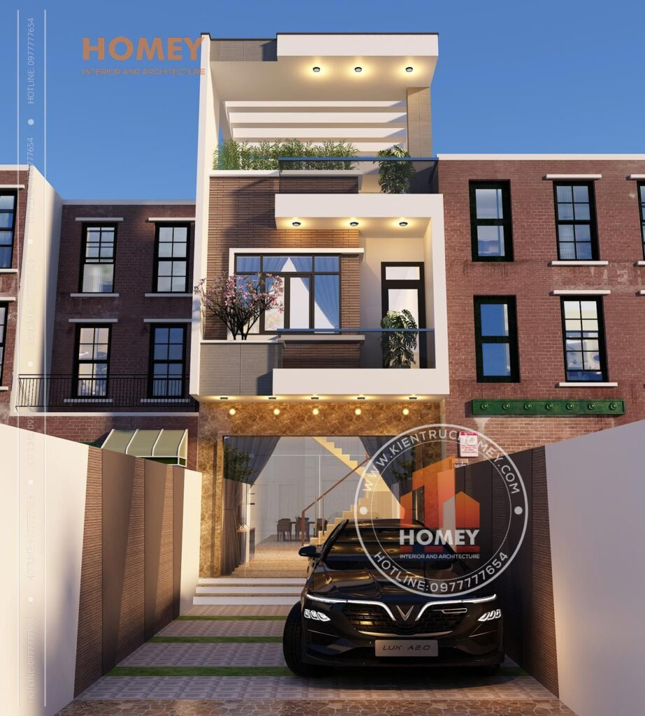 nhà phố 5x20m 3 tầng hiện đại đẹp