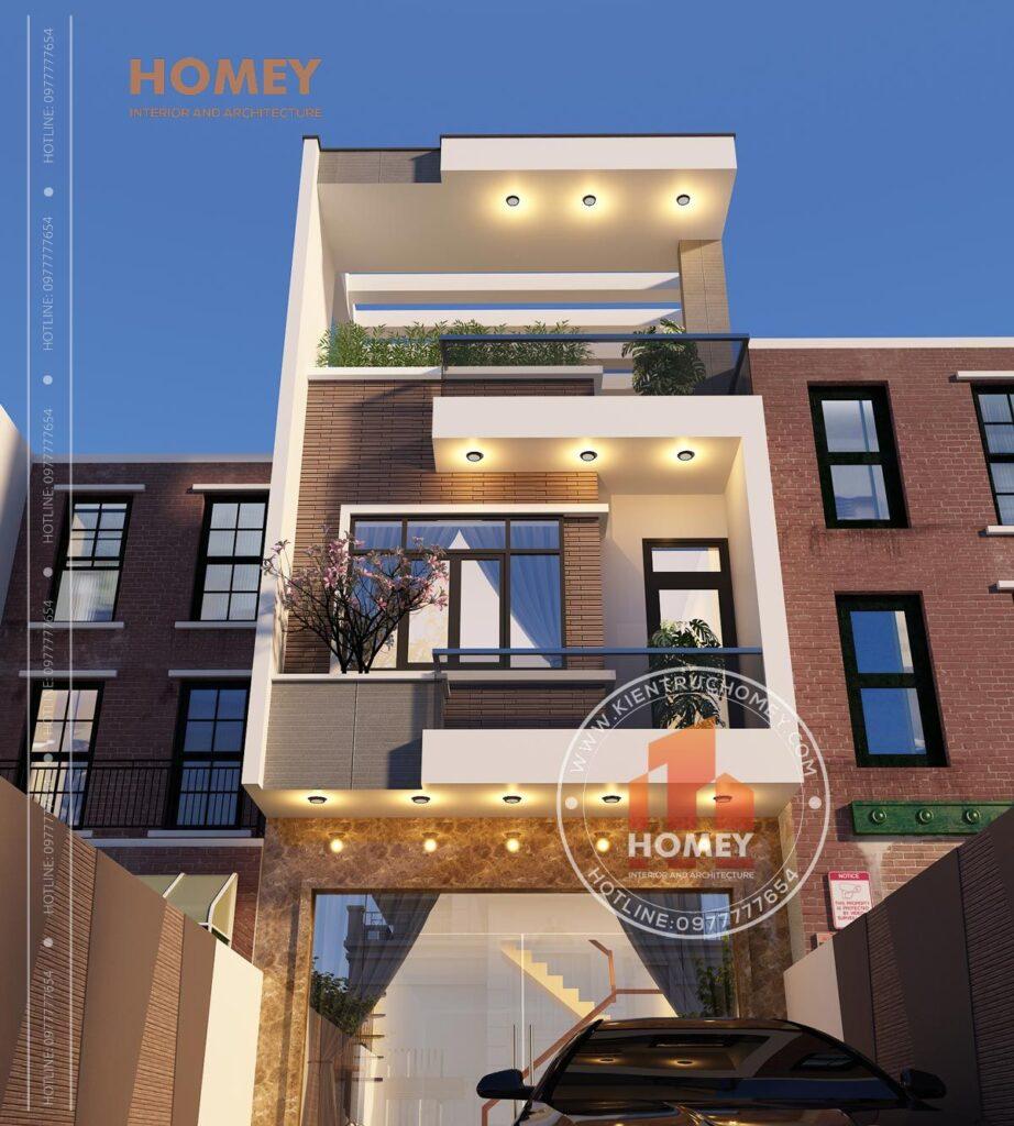 nhà phố 5x20m 3 tầng hiện đại mặt tiền 5m