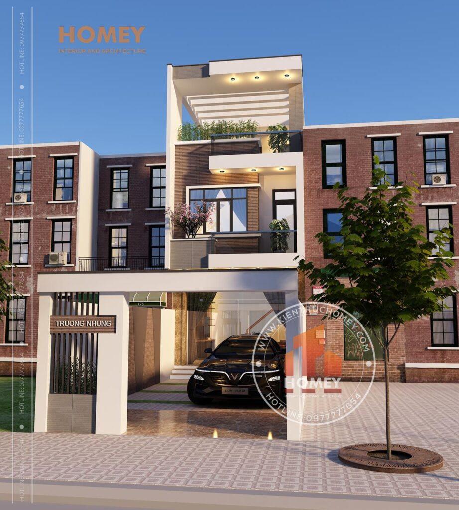 nhà phố 5x20m 3 tầng hiện đại mặt tiền 5m đẹp