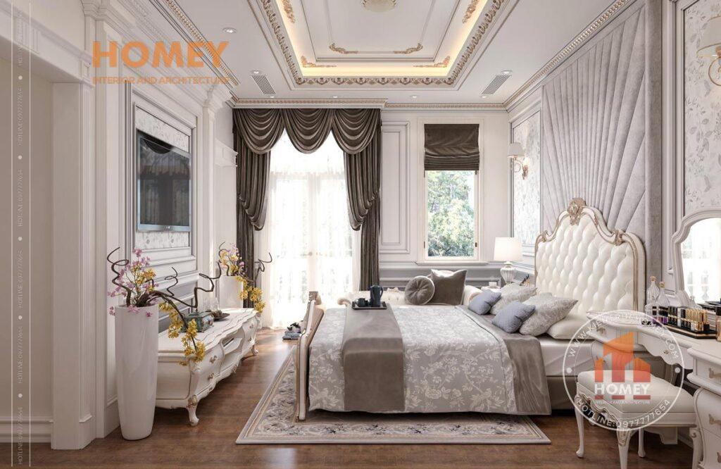 nội thất phòng ngủ tân cổ điển sang trọng đẹp