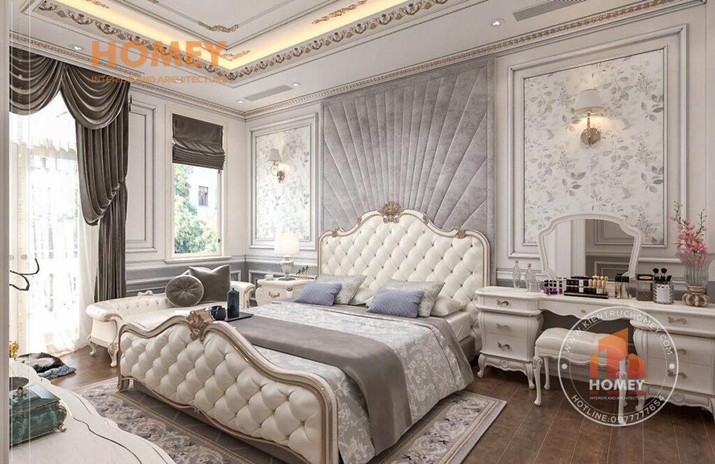 nội thất phòng ngủ tân cổ điển sang trọng đẹp giường đẹp