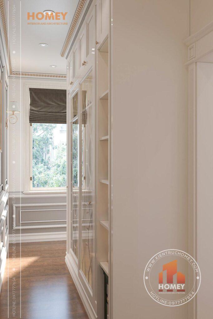 nội thất phòng ngủ tân cổ điển sang trọng tủ quần áo