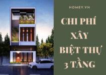 chi phí xây biệt thự 3 tầng là bao nhiêu