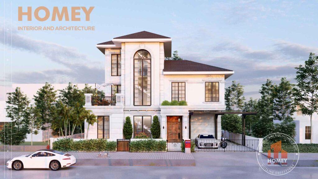 gia xay biet thu tan co dien 1 Báo giá xây biệt thự tân cổ điển mới nhất từ kiến trúc Homey