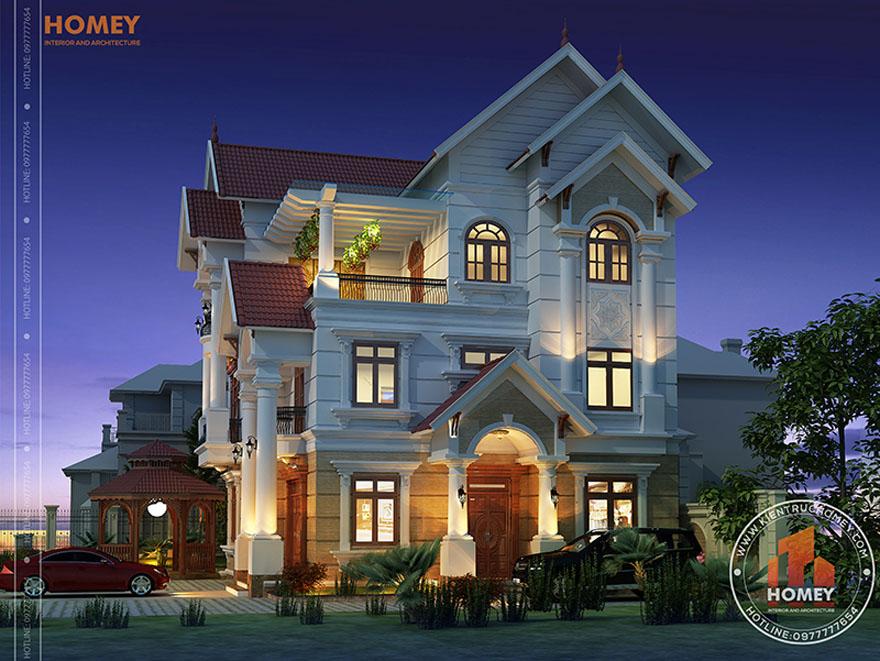 gia xay biet thu tan co dien bao nhieu Báo giá xây biệt thự tân cổ điển mới nhất từ kiến trúc Homey